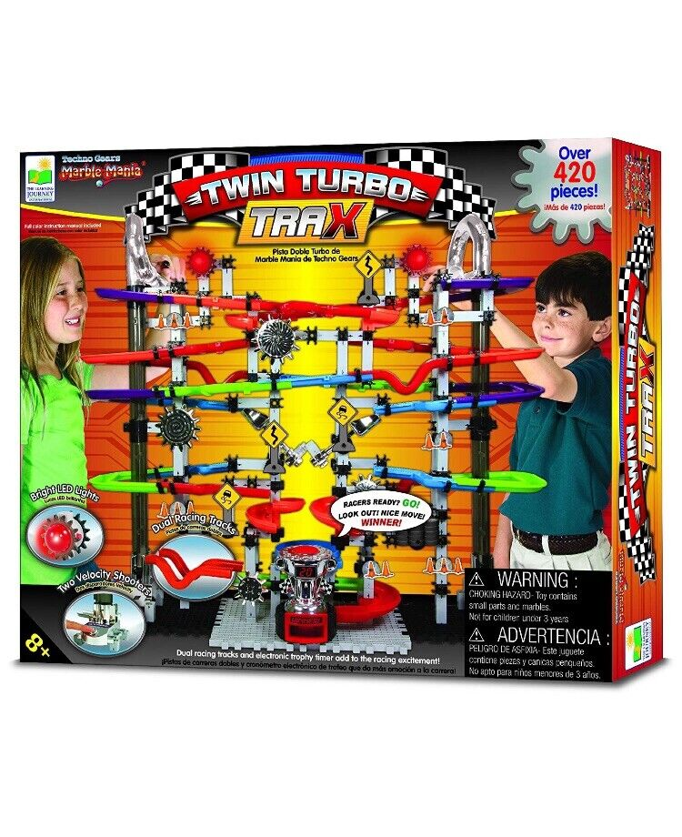 New  TWIN TURBO TRAX Techno Gears MARBLE MANIA Set  400+ Pieces  SEALED  Racing