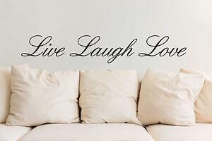 Adaptable 3 L Mot Citation Amour Sticker Live Laugh Vinyle Mur Art Design Transferts Decalls-afficher Le Titre D'origine Style à La Mode;