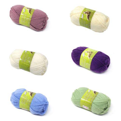 Merino 100/% puro Superwash Doble Bola 50g de punto de lana 6 Colores *