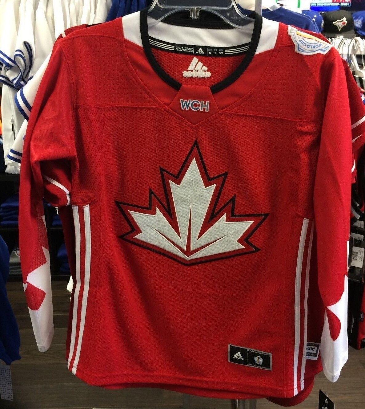 Équipe Canada Adidas de réplique de maillot de la Coupe du monde de hockey 2016 de taille moyenne, dames, femmes