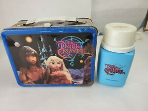 """Vintage 1982 """"The Dark Crystal"""" Metal Lunch Box & Thermos"""