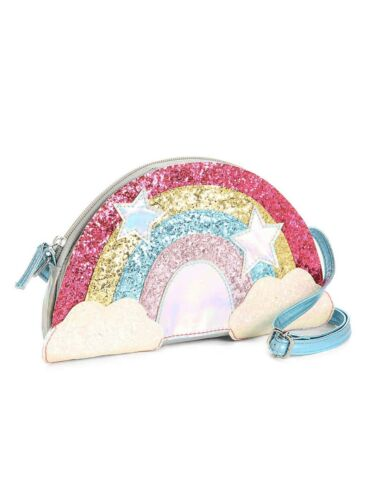 NWT Olive /& EDIE Rainbow Crossbody Unicorn Rainbow Iridescent Girls Kids Woman