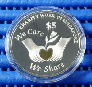 1998-Singapore-Charity-Work-in-Singapore-Commemorative-5-Silver-Proof-Coin