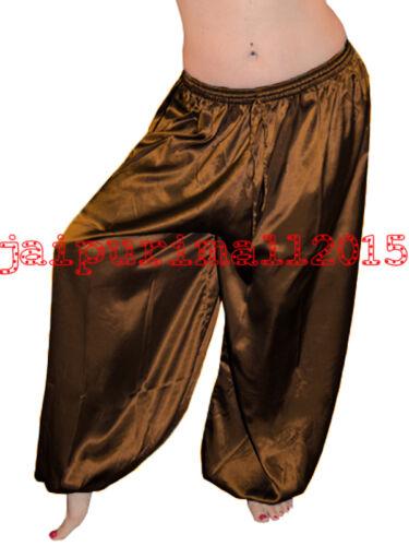 Belly Dancing Satin Harem Yoga Pants Genie Boho Aladdin Tribal Gypsy Harem S~3XL