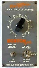Vintage Ratiotrol Boston Gear Model R12 Ac 18 Hp Motor Speed Control Untested