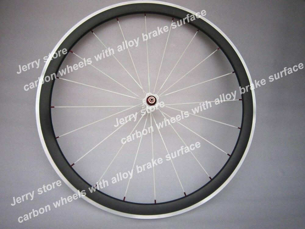 Only front road wheel  38mm carbon fiber wheel alloy brake 700C 23mm width  various sizes