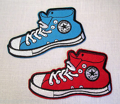 Patch ecusson basquette rouge converse haute all star red
