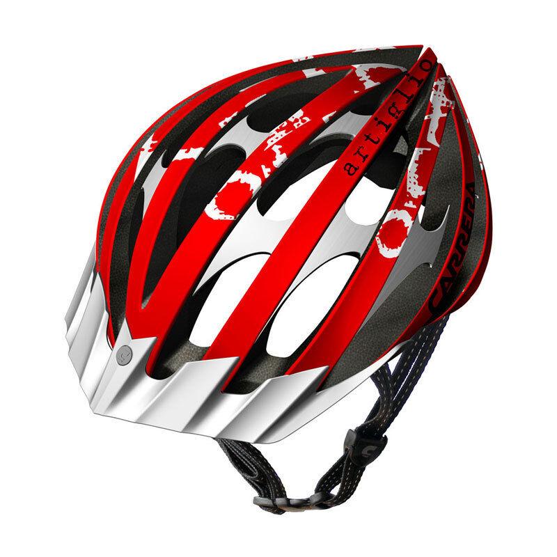 CARRERA ARTIGLIO2 HIGH QUALITY MTB BIKE BICYCLE HELMET 58-61CM RED AND WHITE