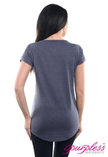 Purpless Maternity Basic Boyfriend Fit Casual Pregnancy T-shirt Top Tee 2200