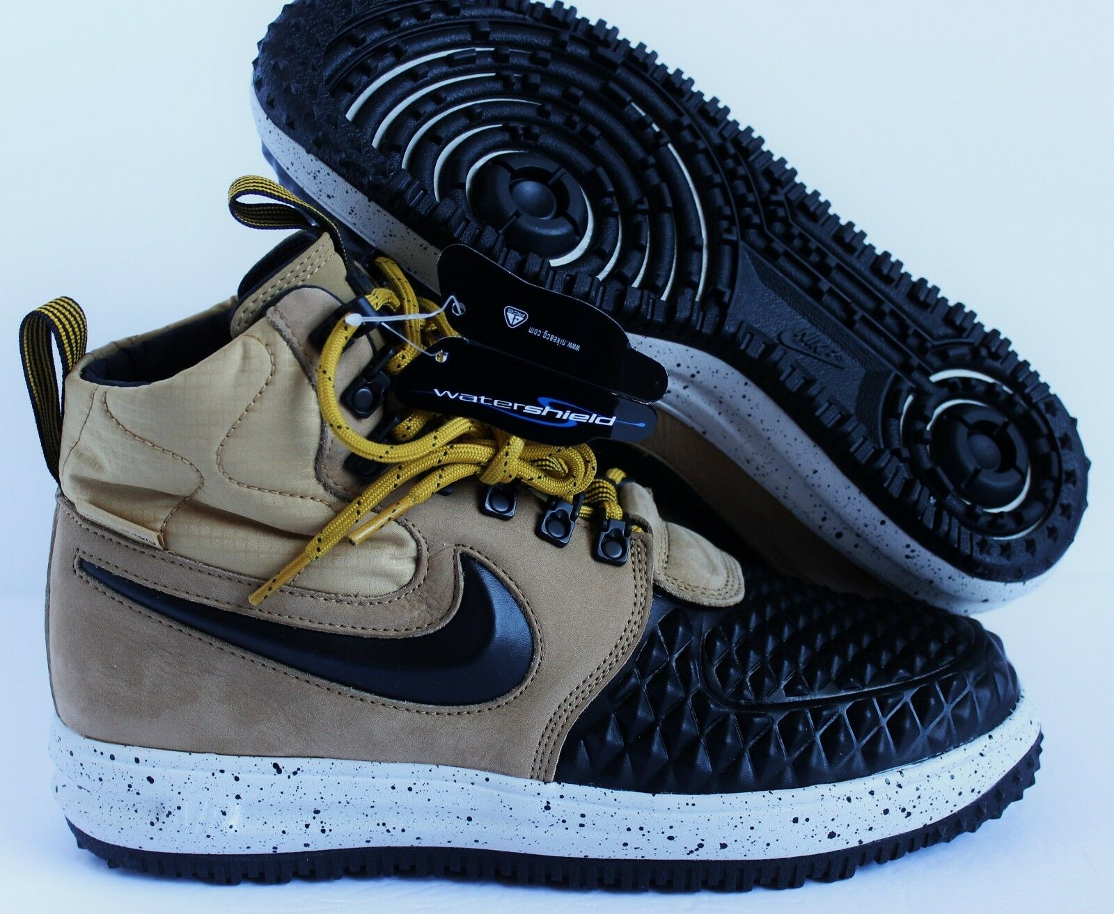NIKE LUNAR FORCE 1 LF1 DUCKBOOT '17 WATERPROOF MET gold-BLACK SZ 9 [916682-701]