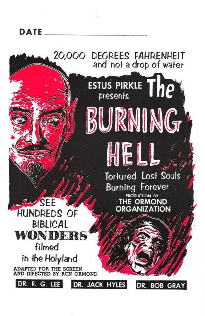 Rare Vintage Estus Pirkle The Burning Hell Ron Ormond Productions Promo Flyer