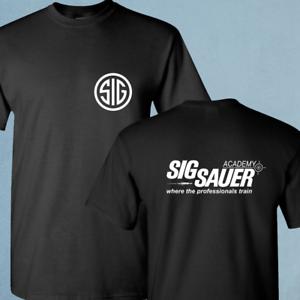 SIG Sauer Academy fire arms Pistol Gun Black T-Shirt