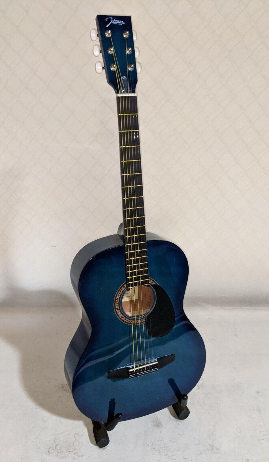 s l1600 - Johnson JG-100-BL Student Acoustic Guitar, Blue