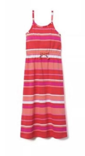 NWT Gymboree Multi Color Stripe Dress SUNWASHED DAYS Girls Pink Size Xl 14