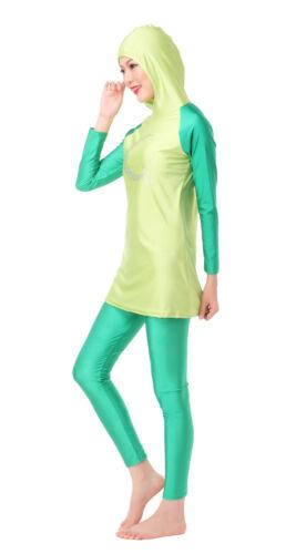 Muslim Women Full Cover Modesty Swimsuit Islamic Swimwear Arab Burkini Beachwear