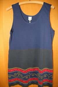 Tunique coton bleue colorée 42 Deerberg à motifs L éco 40 RwIqRzxr47