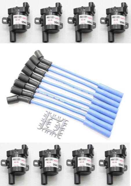 Blue 8 5mm Spark Plug Wires Coil Packs 02