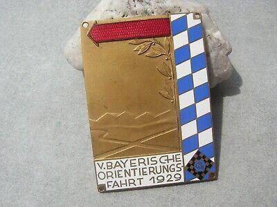 Plakette Tcm Touring Club MÜnchen 1929 - Bayerische Orientierungsfahrt Car Badge