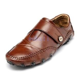 Men-039-s-Chic-Soft-Genuine-Leather-Pull-On-Casual-Oxford-Driving-Shoes-Solid-Loafer
