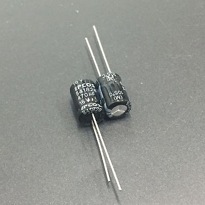 50pcs 470uF 16V EPCOS B41828 8X11.5mm 16V470uF Aluminum Electrolytic capacitor