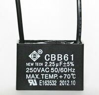 Ceiling Fan Capacitor Cbb61 2.25uf 2 Wire