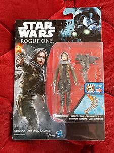 "Disney Star Wars B9846 Rogue One 3.75/"" FIGURE Sergent United erso Flambant Neuf Scellé"