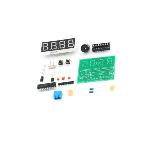 AT89C2051 Digital 4 Bits Electronic Clock Electronic Production Suite DIY CA NEW