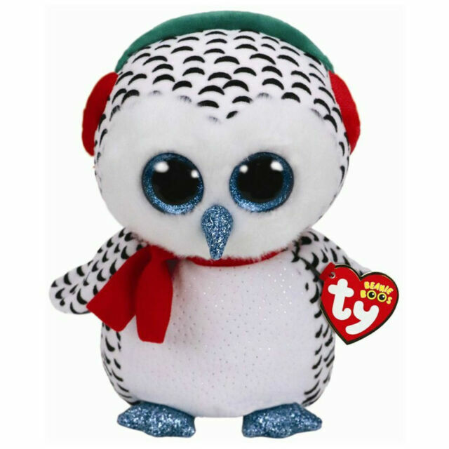"2018 Holiday Ty Beanie Boos NESTER Owl  6/"" size IN HAND Ships from the USA"