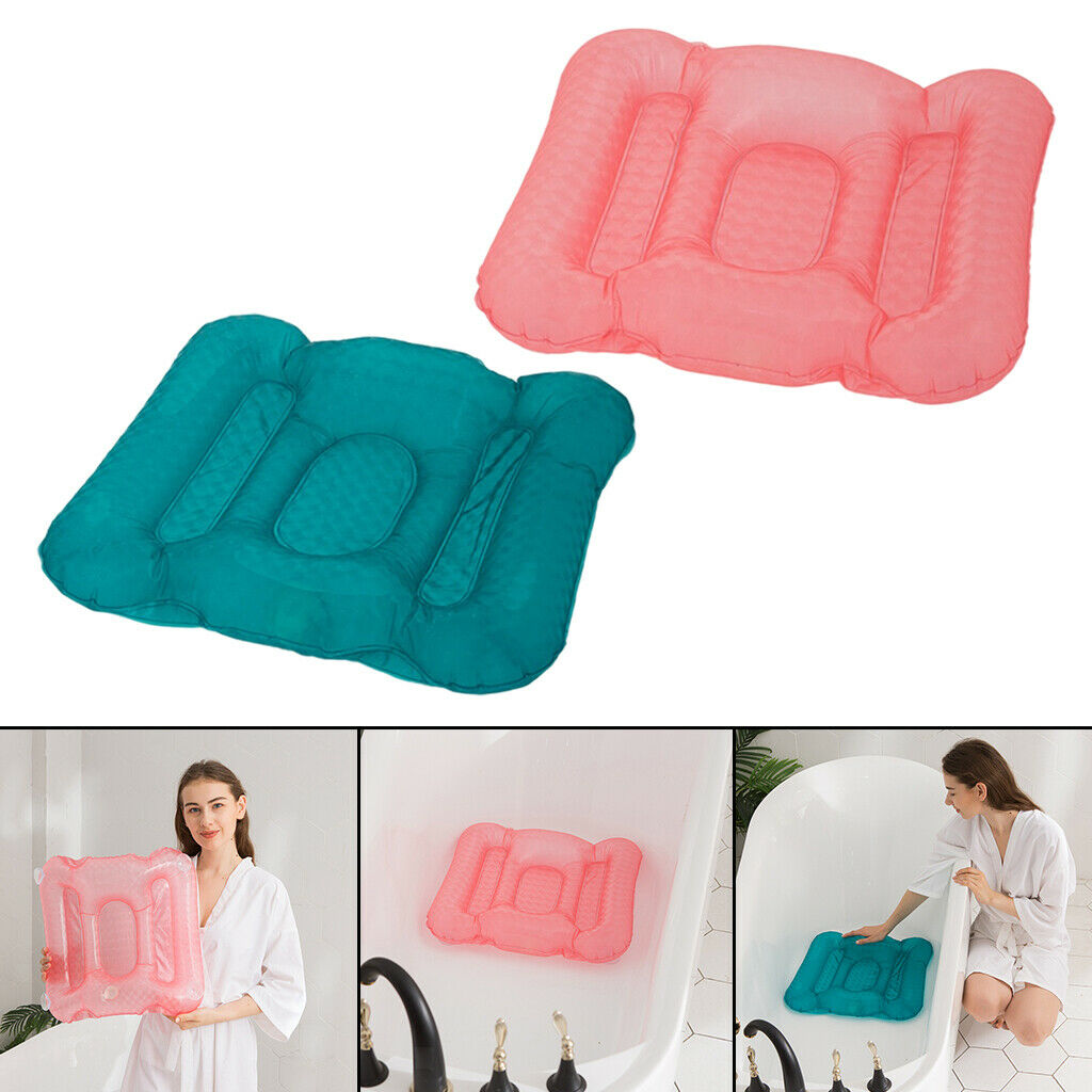 2x Home Spa Booster Seat Comfortable Inflatable Soft PVC Hot Tub Cushion