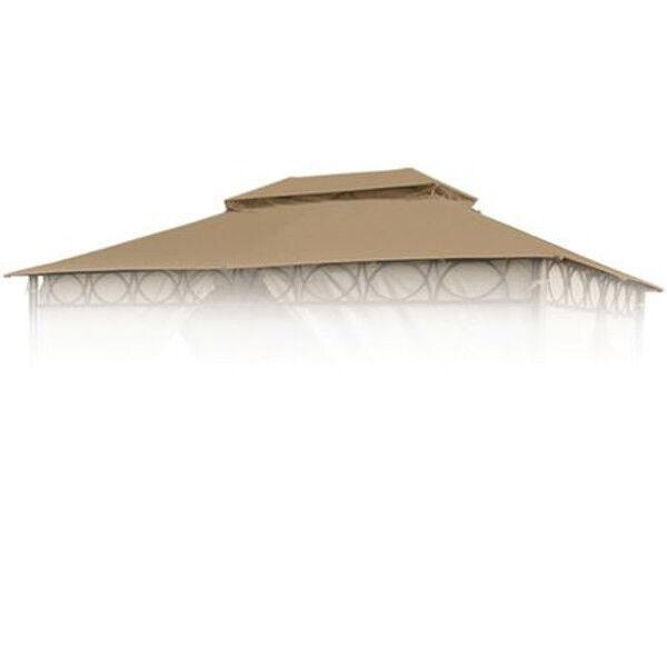 Techo de Reemplazo Marrón para Cape Town Garten-Pavillon 4x3m Pavellón
