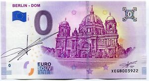 2019-BERLIN-DOM-0-Euro-Souvenir-Banknote-Original-Signature-by-Richard-Faille