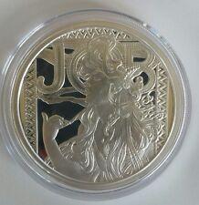 Alphonse Mucha Proof 5 0z .999 silver coin JOB #1 in Art collection Rare COA