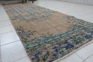 FREE-SHIPPING-Vintage-Handmade-Turkish-Oushak-Runner-Rug-119-034-x31-034