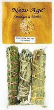Cedar, White and Blue Sage smudge stick 3-Pack