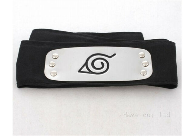 Naruto Shippuden Hidden Leaf Village Black Ninja  headband