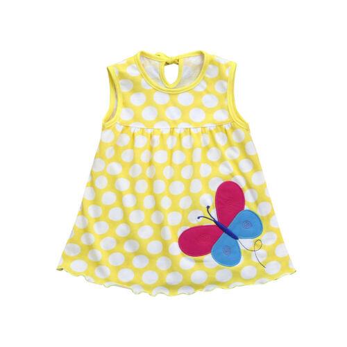 Toddler Kids Girl Baby Infant Cartoon Flower Dot Floral Tees Dress T-Shirt Vest