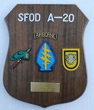 Special Forces Veterans FANK Plaque / End of Tour Award