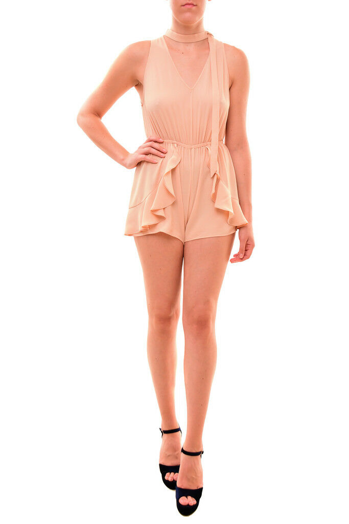 Finders Keepers Playful Stylish Curtis Playsuit Wheat S RRP  145 BCF710