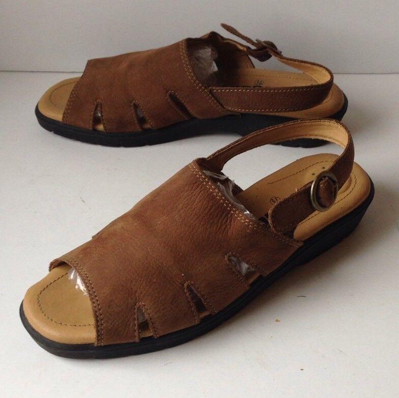Cobbie Cuddlers Sling Women's Tan Nubuck Leather Sling Cuddlers Back Sandals Size 7.5 7711df