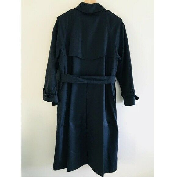 Burberry Vintage Navy Blue Trench Coat - image 3