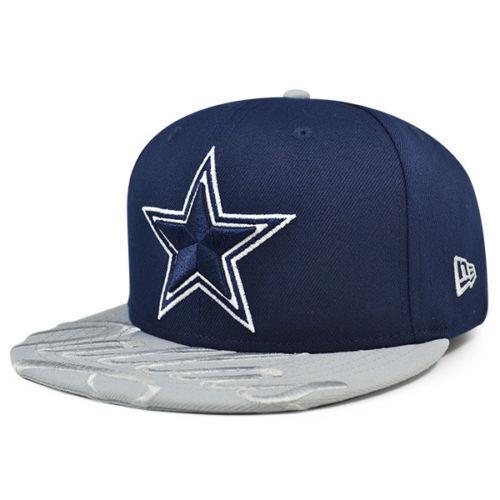 3a46e6f3c1f DALLAS COWBOYS 2019 NFL NEW ERA 59FIFTY VISOR SCRIPT NAVY   GRAY FITTED HAT  CAP