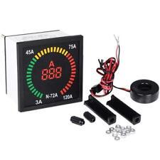 3 120a 72mm Panel Display Digital Ammeter Ampere Meter Current Indicator Ac220v