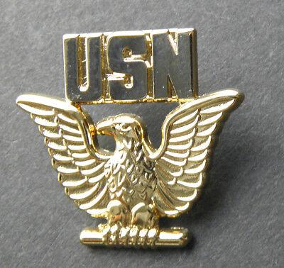 UNITED STATES NAVY USN PEWTER EAGLE LOGO LAPEL PIN BADGE 3//4 INCH