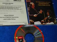 CD BRAHMS carlo maria GIULINI chicago ITZHAK PERLMAN VIOLIN CONCERTO EMI 1986