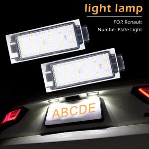 2x18x-LED-Eclairage-de-plaque-immatriculation-pour-Renault-Clio-Laguna-Megane-D