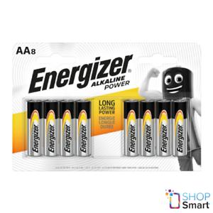 8 ENERGIZER AA ALKALINE POWER LR6 BATTERIES 8 BLISTER 1.5V MIGNON MN1500 E91 NEW