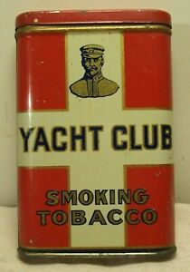 1920-039-s-YACHT-CLUB-SMOKING-TOBACCO-VERY-RARE-VEST-POCKET-TOBACCO-ADVERTISING-TIN