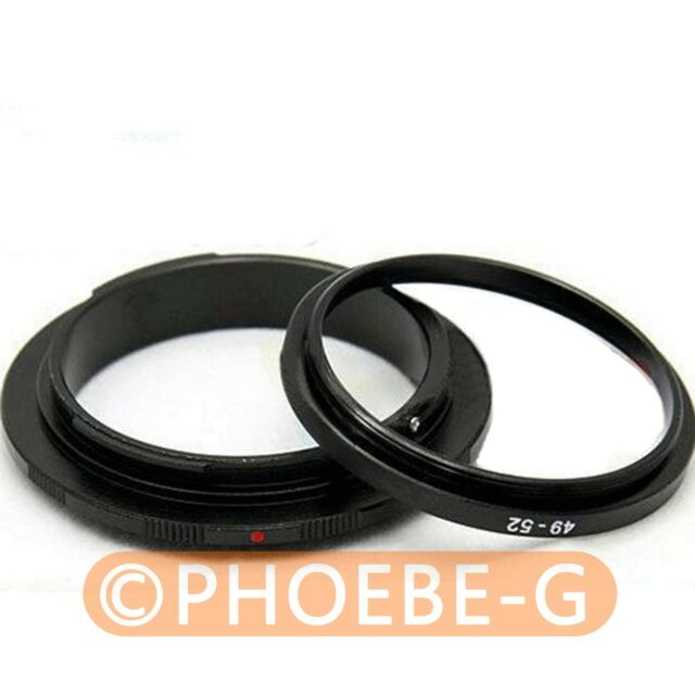 49mm 52mm Macro Reverse Adapter Ring for CANON EF Mount