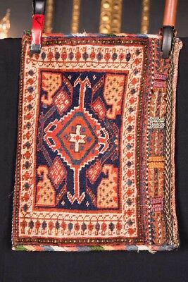 Women And Children Hearty Antiguo Afshari Alfombra Bolso Alrededor De 1880 Longitud 50cm X Ancho 35 Cm Suitable For Men