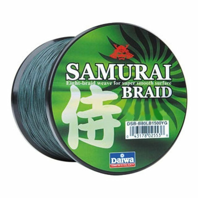 1 DAIWA SAMURAI BRAIDED LINE 55TEST 150 YARDS GREEN